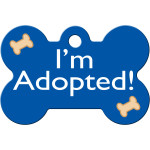 I'm Adopted Blue Large Bone Quick-Tag
