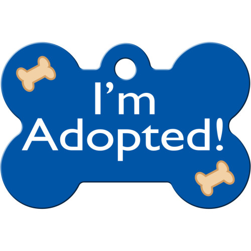I'm Adopted Blue Large Bone Quick-Tag 5 Pack