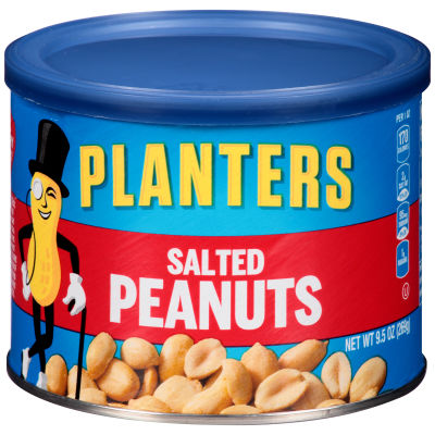 Planters Salted Peanuts 9.5 oz Canister