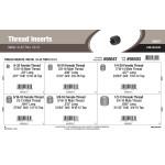 "Metal Thread Inserts Assortment (#8-32 thru 1/2""-13 Female Thread)"