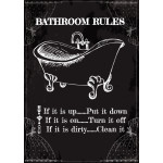 "Bathroom Rules Novelty Sign (10"" x 14"")"