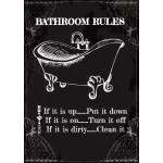 "Aluminum Bathroom Rules Sign 10"" x 14"""