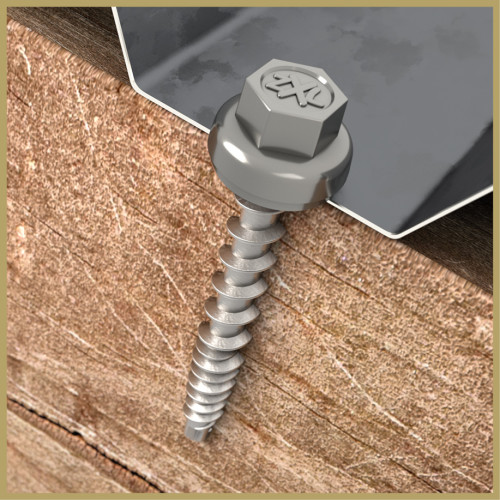 Power Pro ZXL Black Self-Drilling Metal-to-Wood Roofing Screws (#10 x 1-1/2
