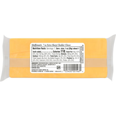 Hoffman's Natural Extra Sharp Cheddar Cheese 7 oz Wrapper