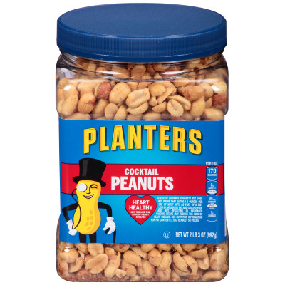 Planters Cocktail Peanuts 35 oz Jar