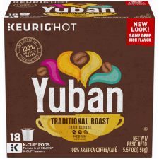 Yuban Gold Original Medium Roast Coffee K-Cup, 5.57 oz Box (18 Count)