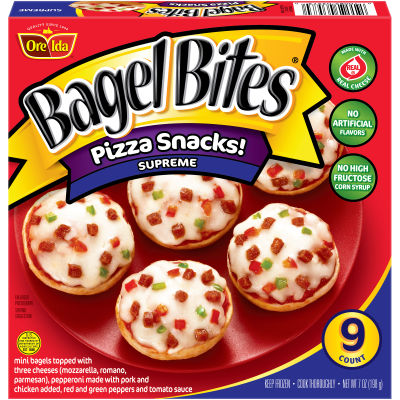 Bagel Bites Supreme Pizza Snacks 9 count Box