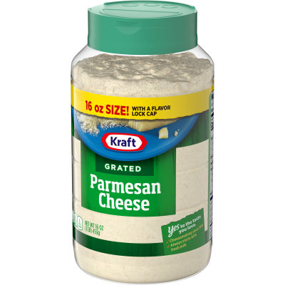 Kraft 100% Grated Parmesan Cheese Shaker, 16 oz Bottle