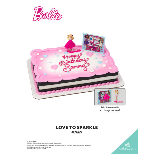 Barbie™ Love to Sparkle DecoSet® The Magic of Cakes® Page