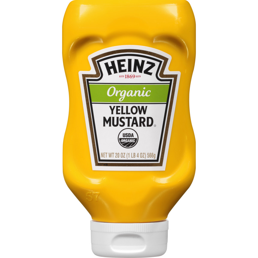 Heinz Organic Yellow Mustard, 20 oz Bottle image