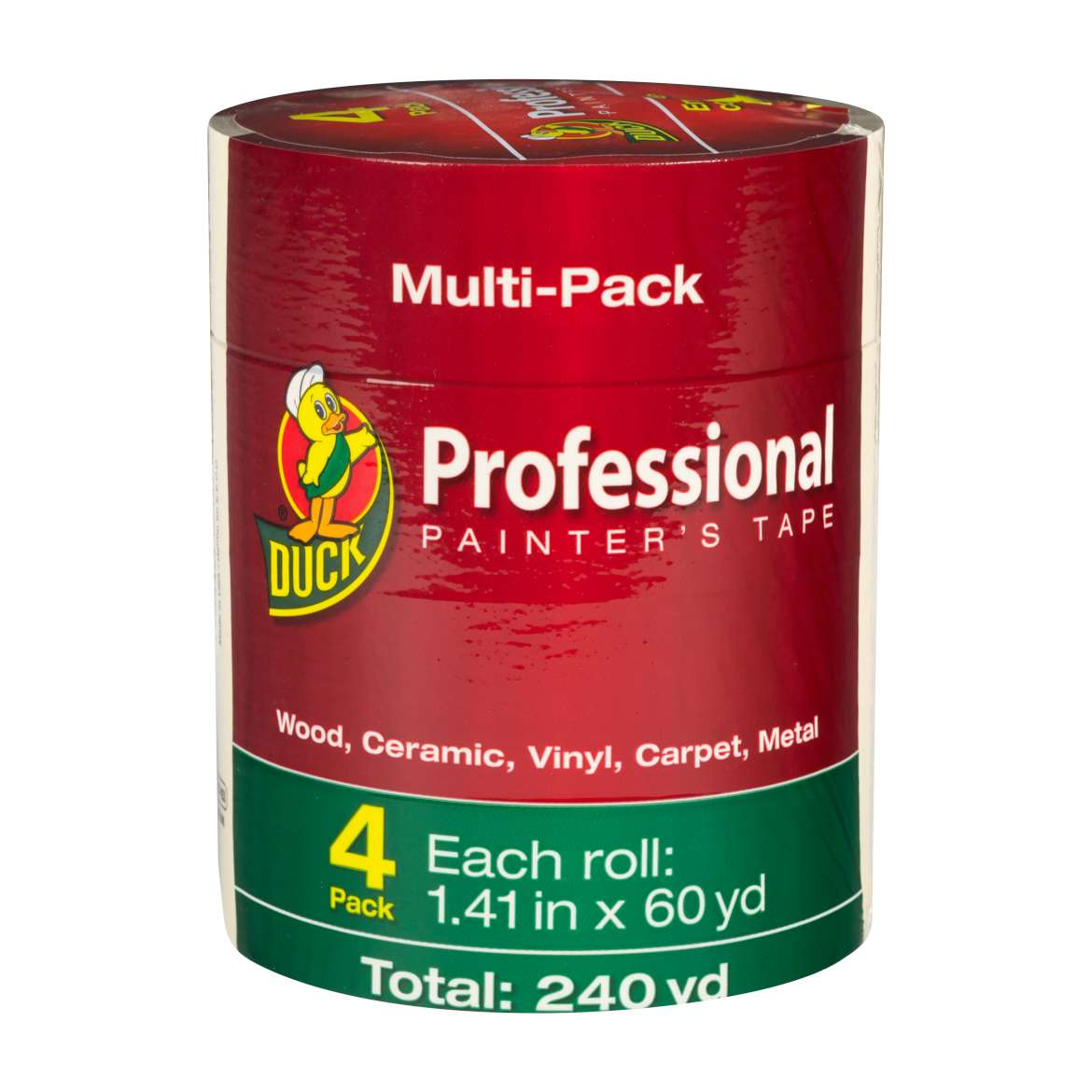 Duck® Brand Professional Painter's Tape - Beige, 4 pk, 1.41 in. x 60 yd. Image