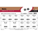 Metric Tee Nuts Assortment (M3-0.50 thru M10-1.50)