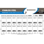 "Slotted Oval-Head Stainless Steel Machine Screws Assortment (#6-32 thru 1/4""-20)"