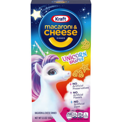 Kraft Unicorn Shapes Macaroni & Cheese Dinner - 5.5 oz Box
