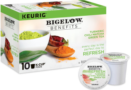 Benefits Turmeric Chili Matcha Green Tea K-Cups  - Case of 6 boxes - total of 60 k-cups