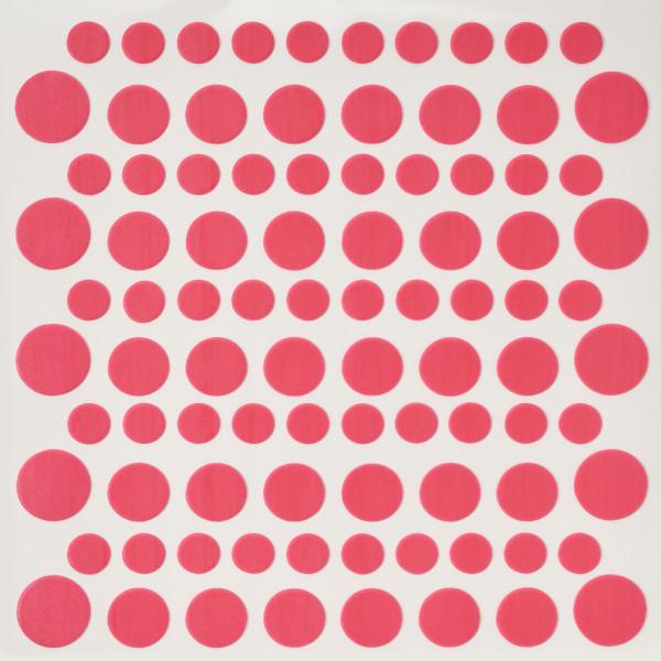 Bright Pink Printed Dots Fondant DecoShapes®
