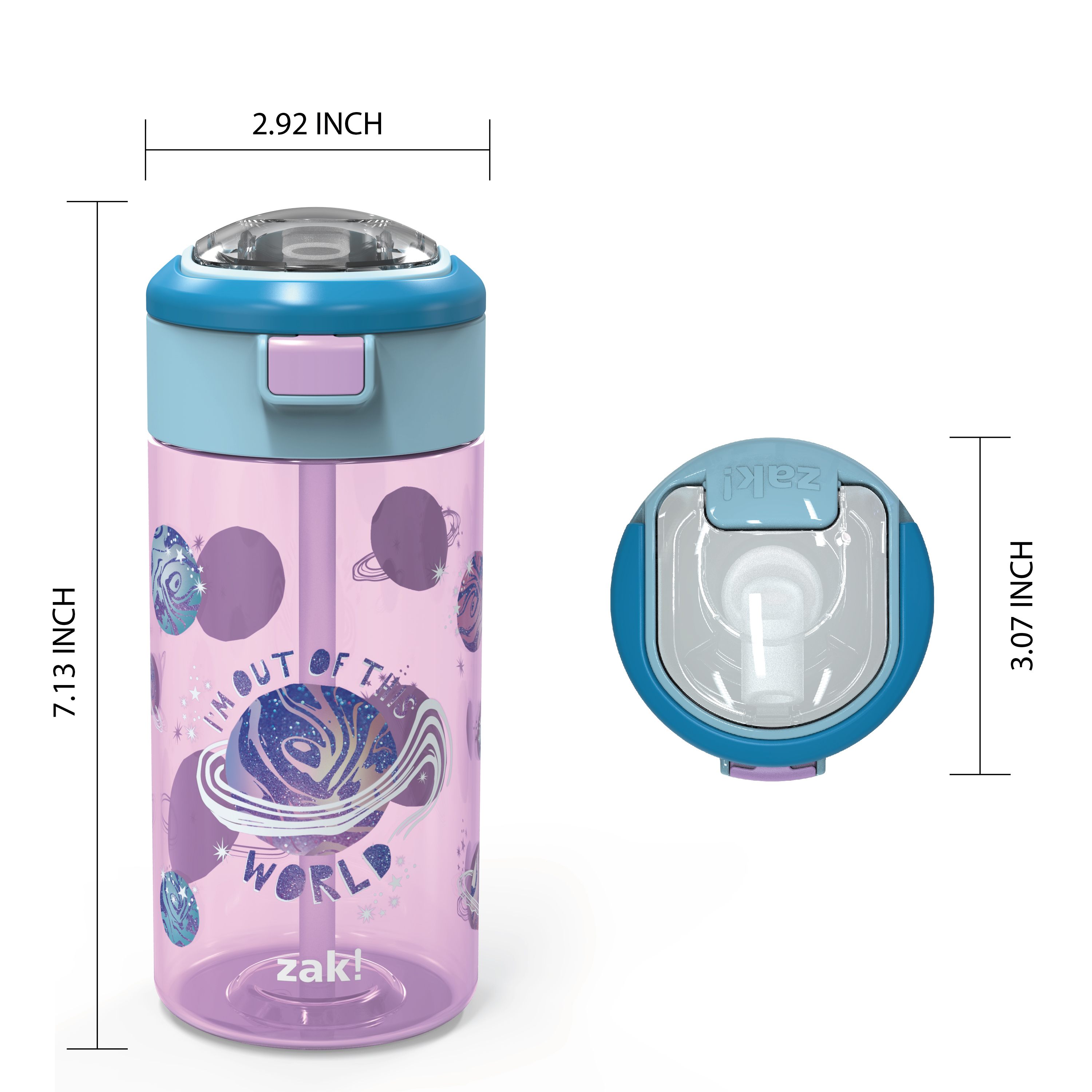 Genesis 18 ounce Water Bottles, Planet, 2-piece set slideshow image 8