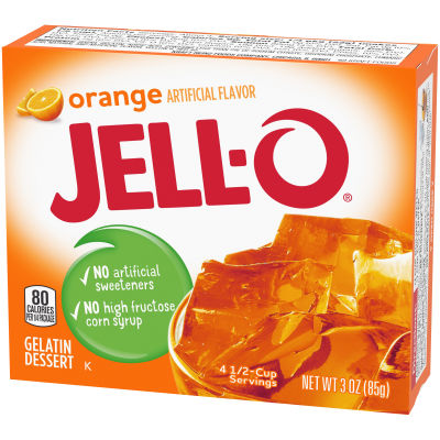 Jell-O Orange Gelatin Mix 3 oz Box