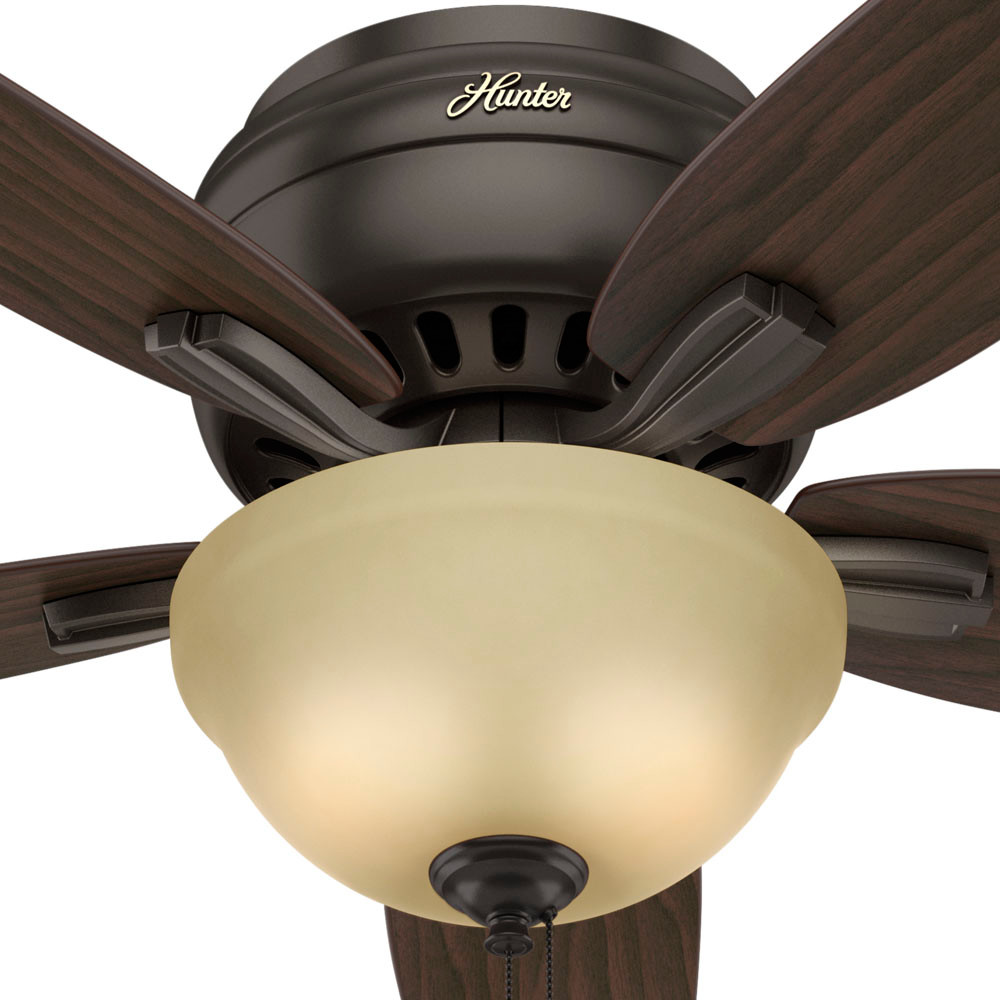 Wonderful Hunter Low Profile Ceiling Fans Image: Hunter Newsome Low Profile With Light 52 Inch White