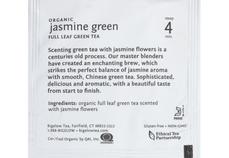 steep Café Organic Jasmine Green Tea - Box of 50 pyramid tea bags