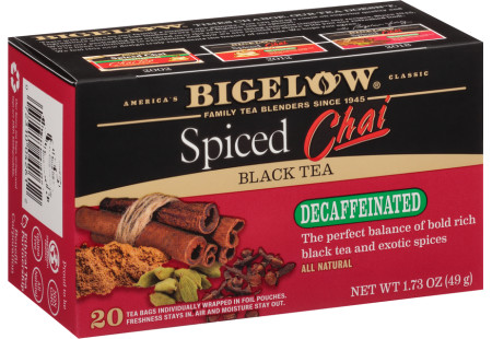 Spiced Chai Decaf - Case of 6 boxes- total of 120 teabags