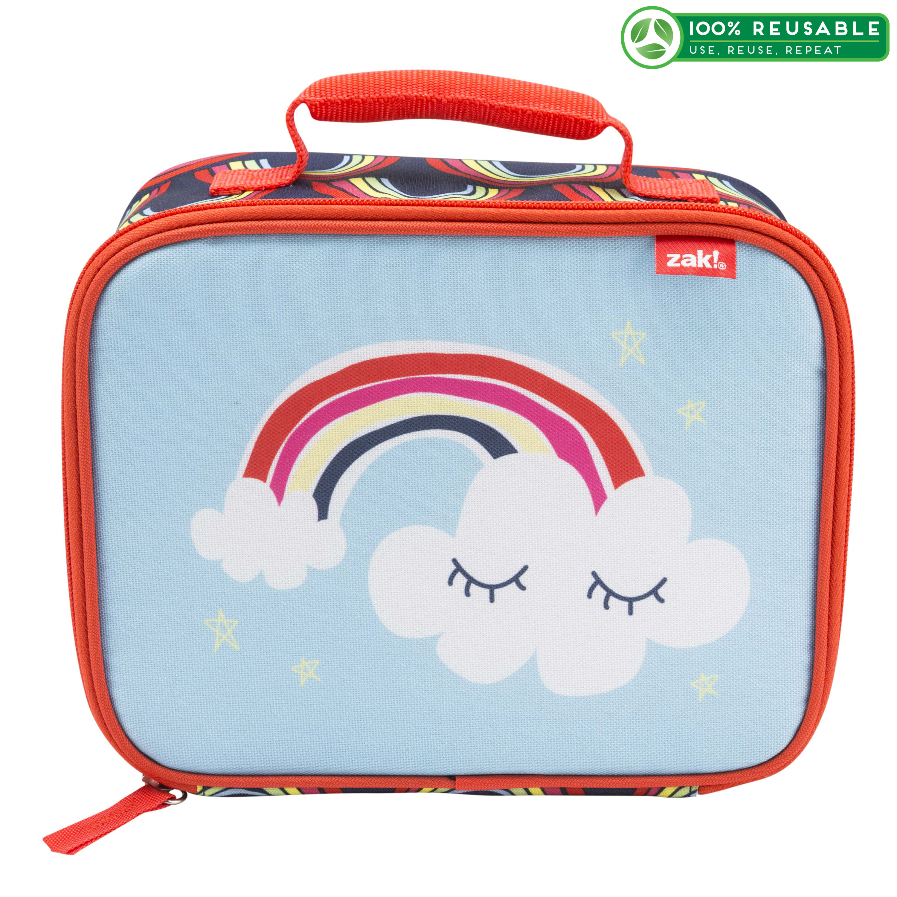 Happy Things Insulated Reusable Lunch Bag, Clouds slideshow image 1