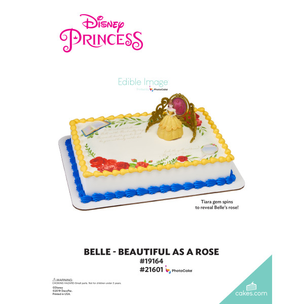 Disney Princess Belle Beautiful as a Rose DecoSet® The Magic of Cakes® Page