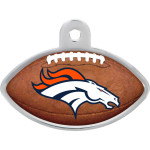 Denver Broncos Large Football Quick-Tag