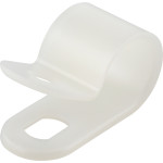 "Natural White Nylon Cable Clamp (3/8"" Wide for 1/2"" Cable)"