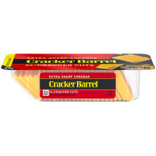 Cracker Barrel Cracker Cuts Extra Sharp Cheddar Cheese 24 Slices - 7 oz Tray