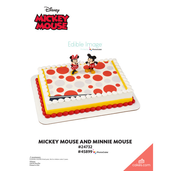 Mickey Mouse and Minnie Mouse DecoSet® The Magic of Cakes® Page