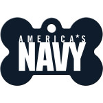 Navy Large Bone Quick-Tag