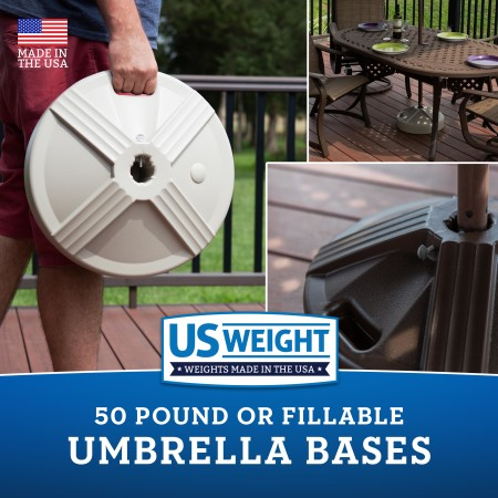 50 lb Umbrella Base - White 15