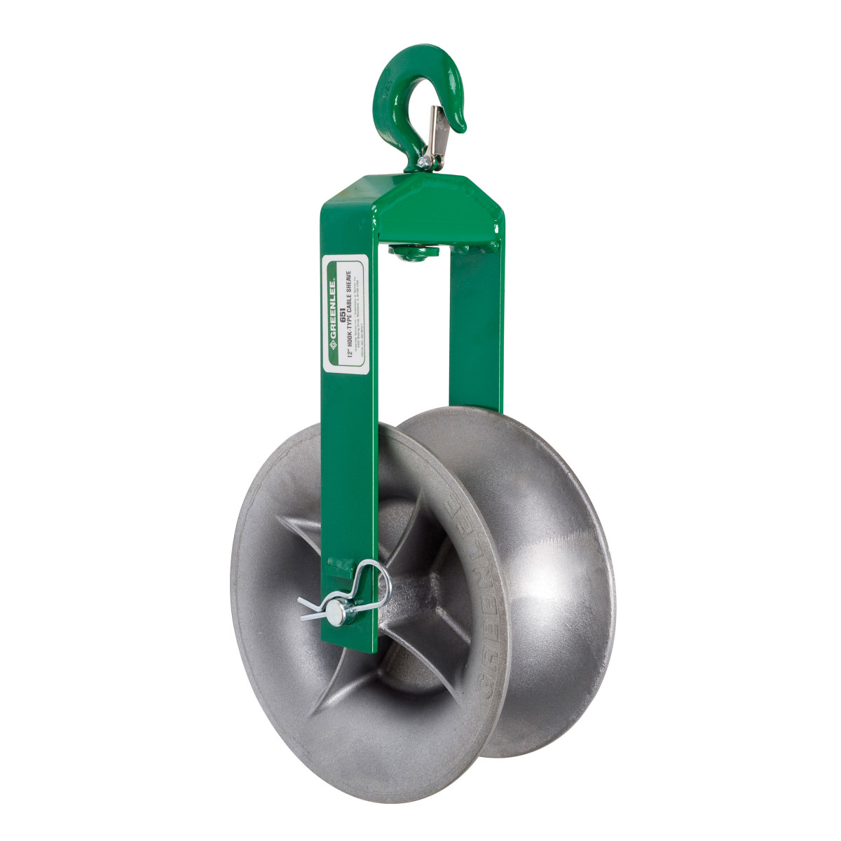 Greenlee 651 Hook-Type Cable Pulling Sheave, 12""
