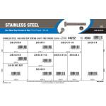 "Stainless Steel Hex Cap Screws & Nut Assortment (3/8""-24 Thread)"