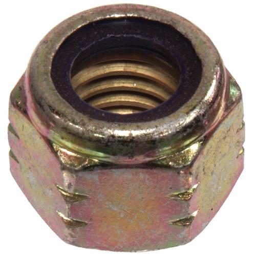 Zinc & Yellow Hardened Nylon Insert Grade C USS Coarse Stop Nut 7/8