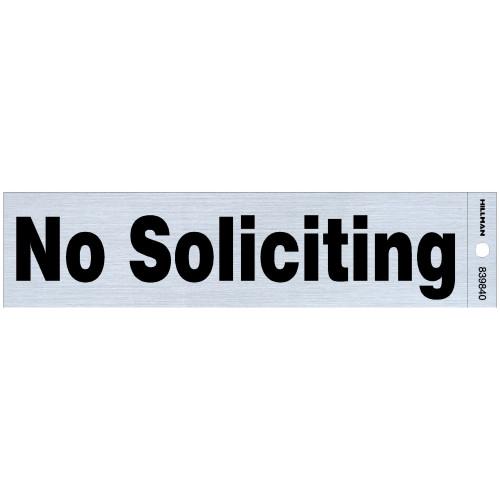 Adhesive No Soliciting Sign (2