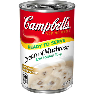 Ready-to-Serve Low Sodium Cream of Mushroom Soup