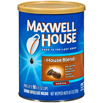Maxwell House House Blend Ground Coffee, 10.5 oz Canister