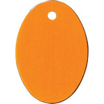 Orange Large Oval Quick-Tag