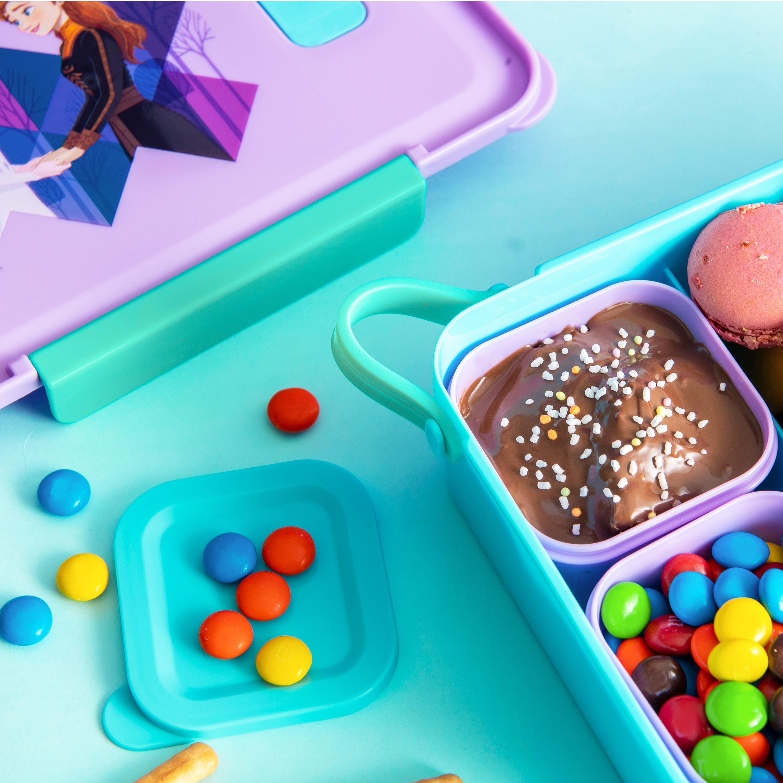 Disney Frozen 2 Movie Reusable Divided Bento Box, Elsa and Anna, 3-piece set slideshow image 9