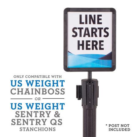 Sentry, Sentry QS & ChainBoss Sign Holder 2