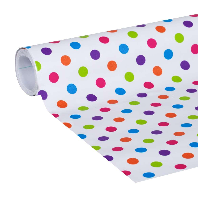 Deco Adhesive Laminate Shelf Liner Polka Dot Duck Brand