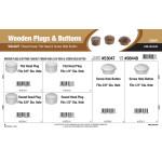 Walnut Wooden Plugs & Buttons Assortment (Round Head, Flat Head, & Screw Hole Button)
