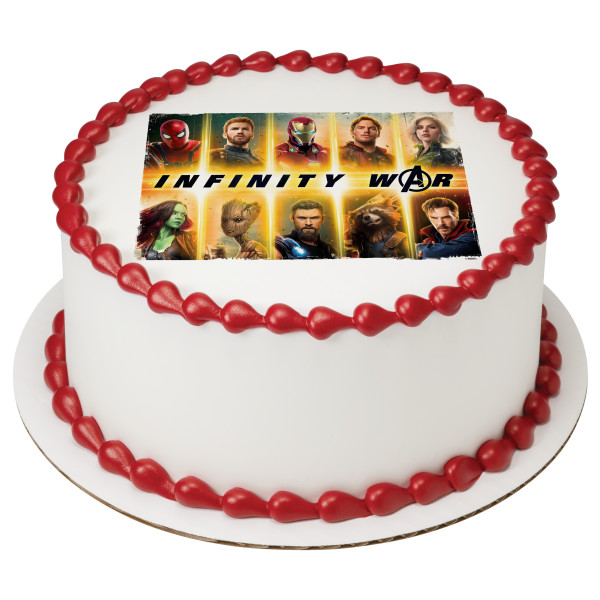 MARVEL Avengers Infinity War Heroic PhotoCake® Edible Image®