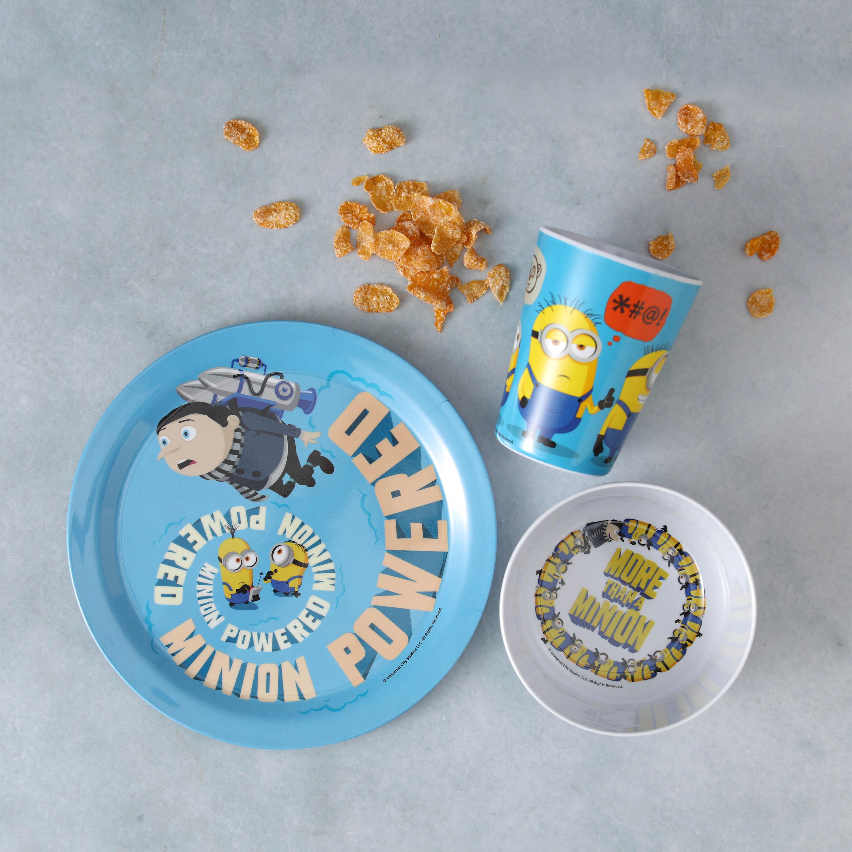 Minions 2 Movie Kid's Dinnerware Set, Minions and Felonius Gru, 3-piece set slideshow image 2