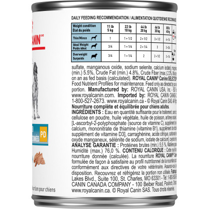 Royal Canin Veterinary Diet Canine Selected Protein PD Loaf Canned Dog Food