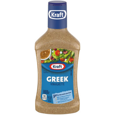 Kraft Greek Vinaigrette Dressing 16 fl oz Bottle