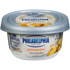 Philadelphia Pineapple Cream Cheese Spread 7.5 oz Tub