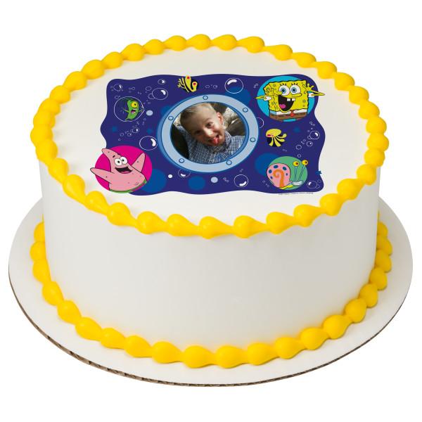 SpongeBob SquarePants™ Bubbles PhotoCake® Edible Image® Frame